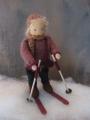 Biegepuppe-Skifahrer