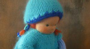 Puppe-Strickpuppe nach Waldorfart-Kopf