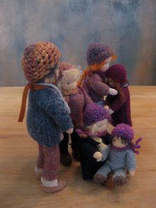 Biegepuppen - Eltern mit vier Kindern