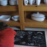Küche, Rückwand, Spritzschutz, Tafel, Kindermalerei