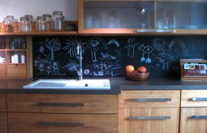 Bemalte Küchenrückwand