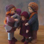 Biegepuppen Puppen Waldorf Waldorfart Dolls Puppenfamilie Familie