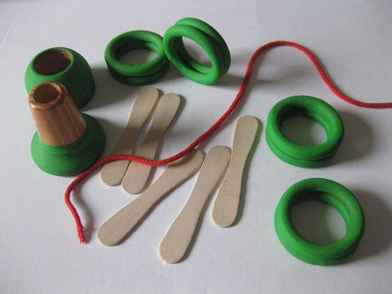 Bastelmaterial für die Herstellung eines Kerzenhalters - Lebenslichter für den Geburtstagstisch
