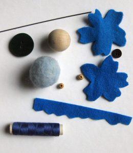 DIY Materialien zur Herstellung einer Blumenelfe