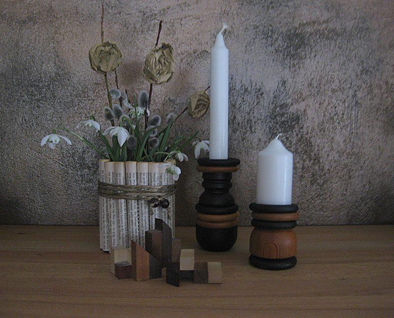 Upcycling - DIY Kerzenständer aus Gardinenringe