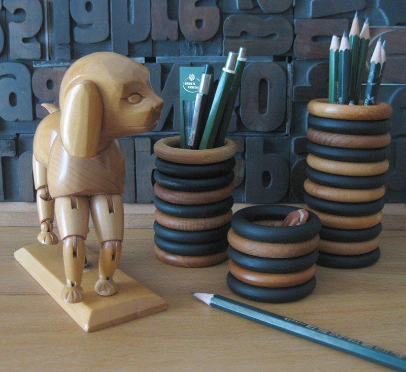 Upcycling - DIY Stiftehalter aus Gardinenringe