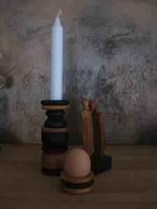 Upcycling - Kerzenhalter und Eierbecher aus Gardinenringe
