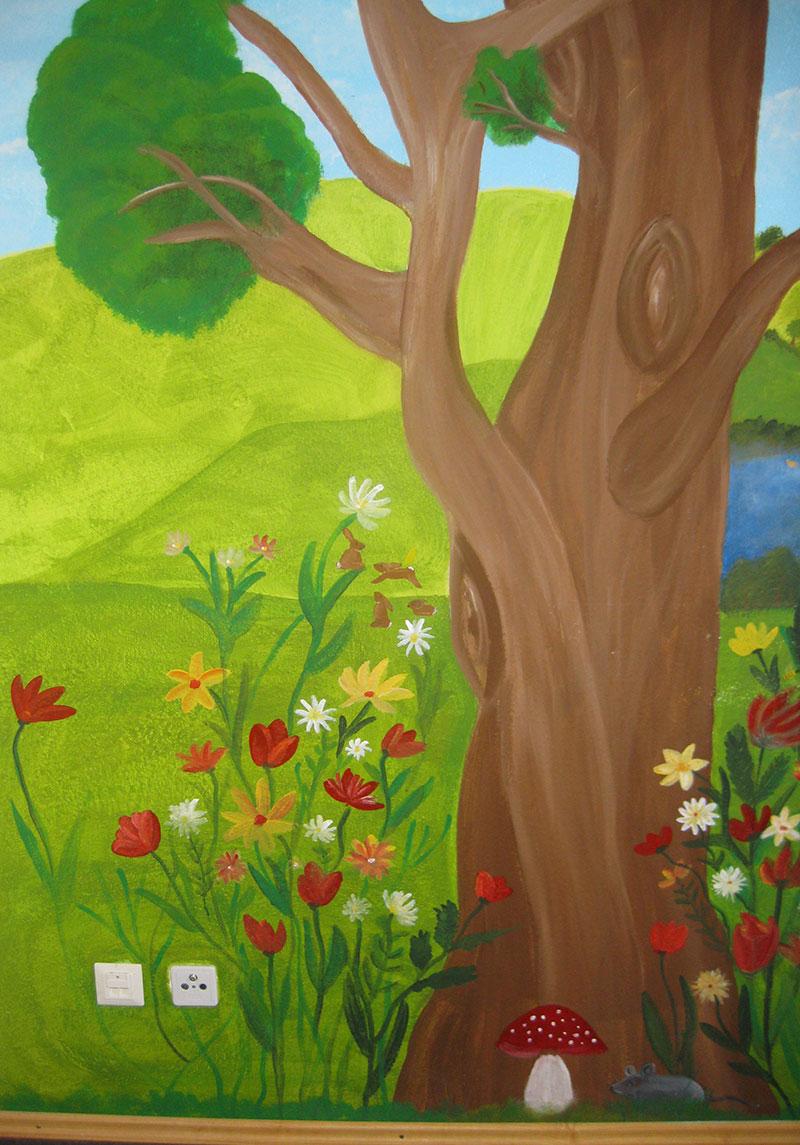 Kinderzimmer-Wandgestaltung-Wandmalerei2