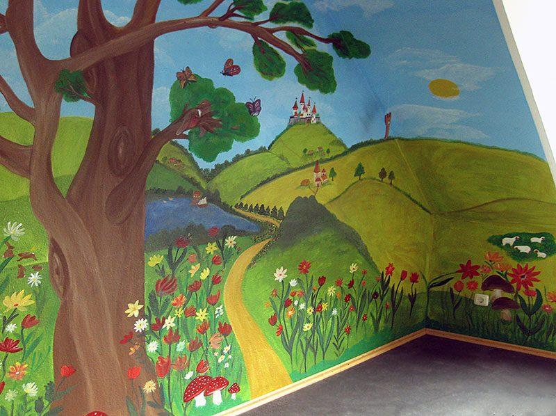 Kinderzimmer-Wandgestaltung-Wandmalerei4