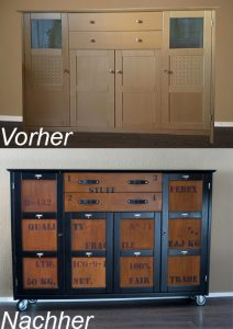 DIY Kommode Industrial Vorher/Nachher Industriedesign