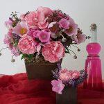 Blumen - Blumenstrauß mit Rosen, Malven, Spirea und Lavendel
