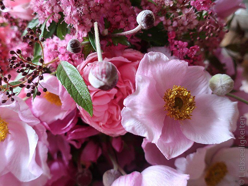 Blumenstrauß - Malven und Spirea