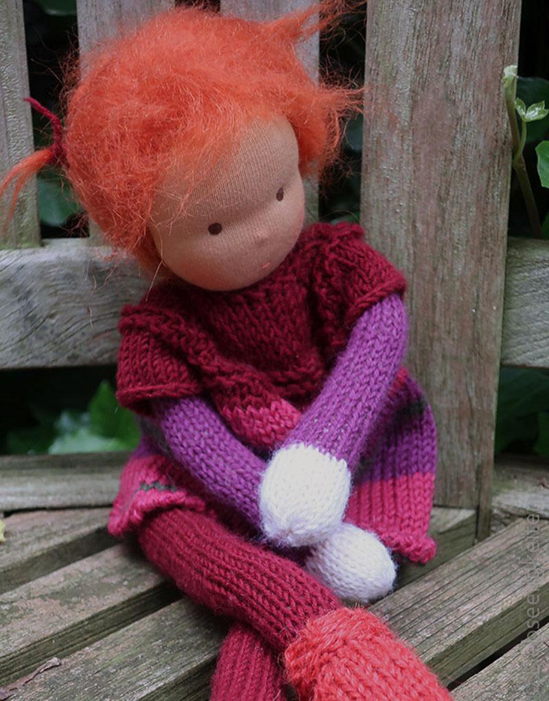 Puppe- Strickpuppe - Waldorf - Liebseeligkeiten