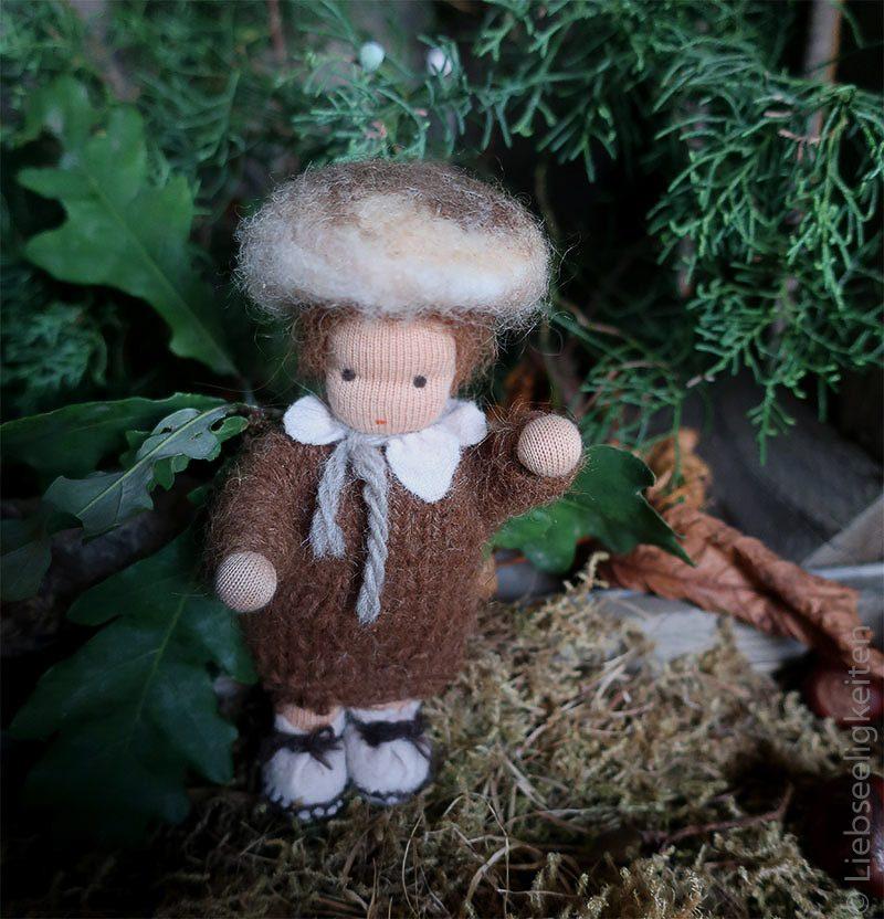 Pilz - Biegepuppe - Jahreszeitentisch - Waldorf