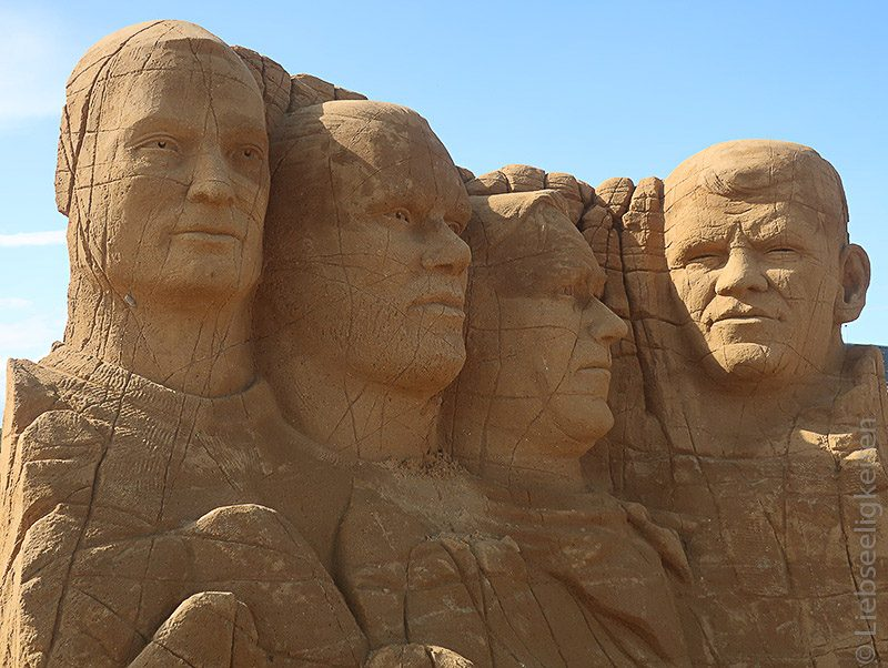 Sandskulpturen Dänemark Vejlby Klit