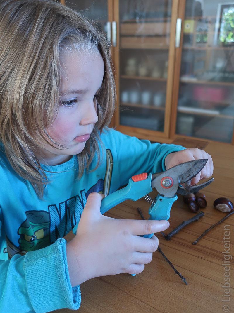 Basteln mit Kindern - Naturmaterialien
