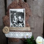 Basteln mit Naturmaterialien - Bilderrahmen aus Baumrinde