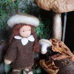 Biegepuppe - Steinpilz für den Jahreszeitentisch - Waldorf