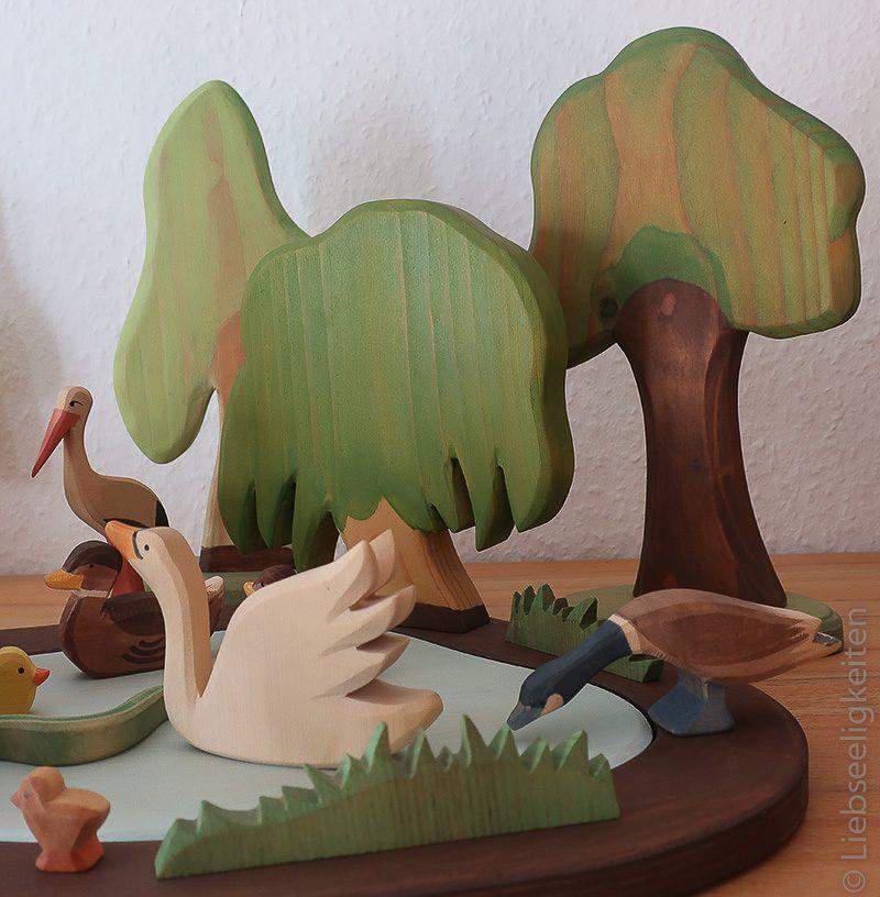 diy bäume und teich für ostheimer holzfiguren spielzeug