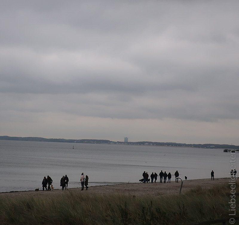 strand scharbeutz im november