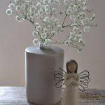 Vase mit schleierkraut - engel - weihnachten - deko