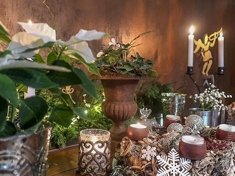 adventskranz - kerzen - weihnachtsdeko