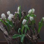 weiße Tulpen - Tulpengesteck - Tischdeko