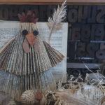 Huhn falten - altes Buch falten
