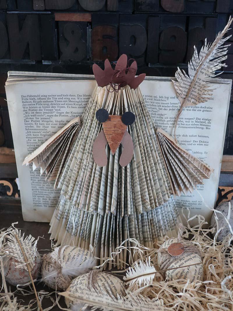 Verrücktes Huhn - Buch falten