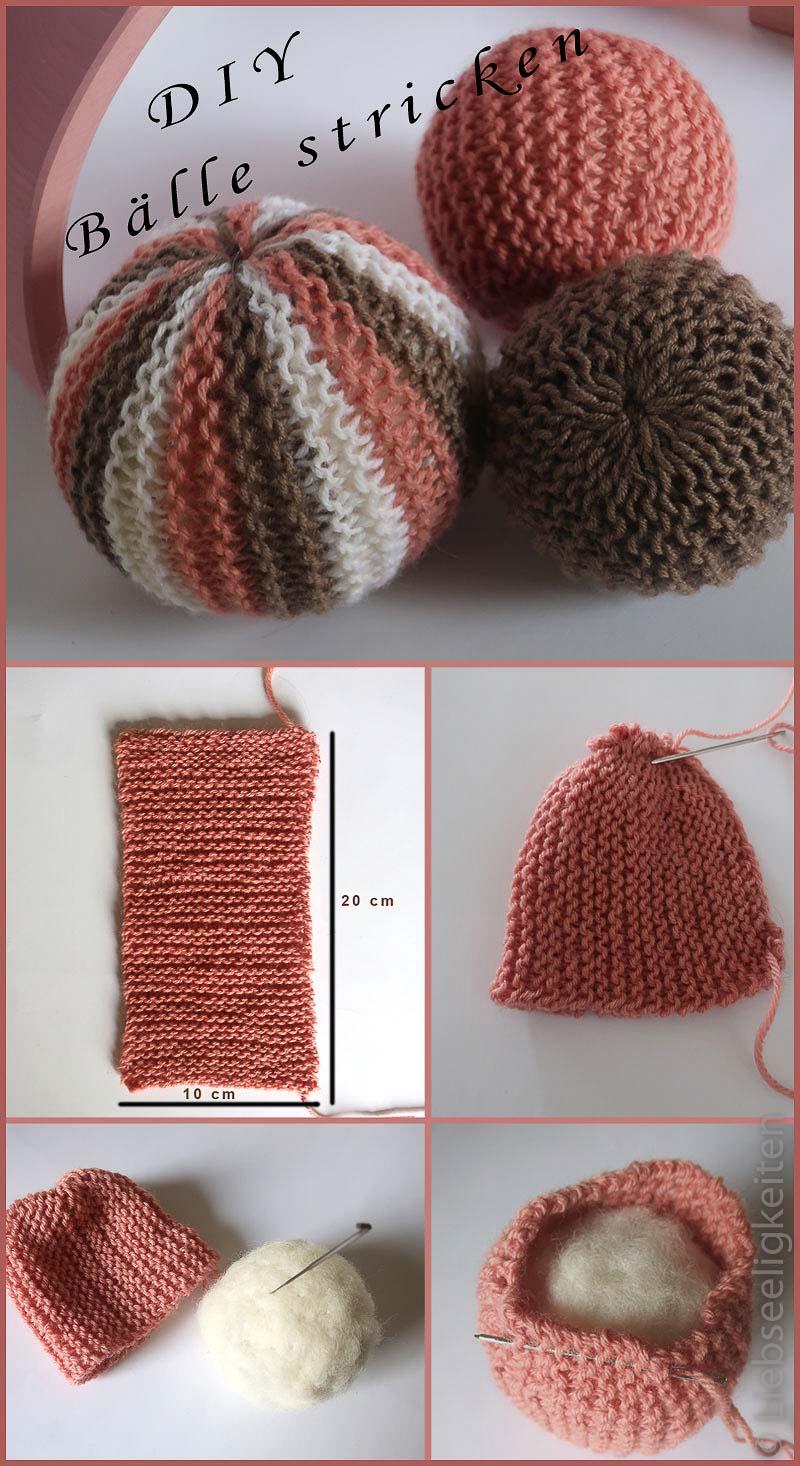 DIY Bälle Stricken - Bälle aus Naturmaterialien