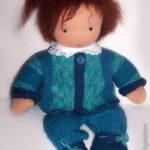 Liebseeligkeiten - Puppe nach Waldorfart - gestrickte Kleidung
