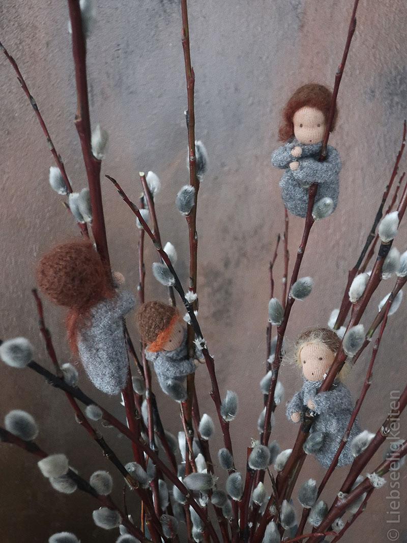Weidenkätzchen - Liebseeligkeiten Jahreszeitenfigur - Waldorf - Blumenkind