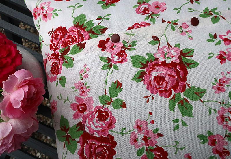 Kissen - Nähen - Kissen mit Rosenmuster - Rosenstoff