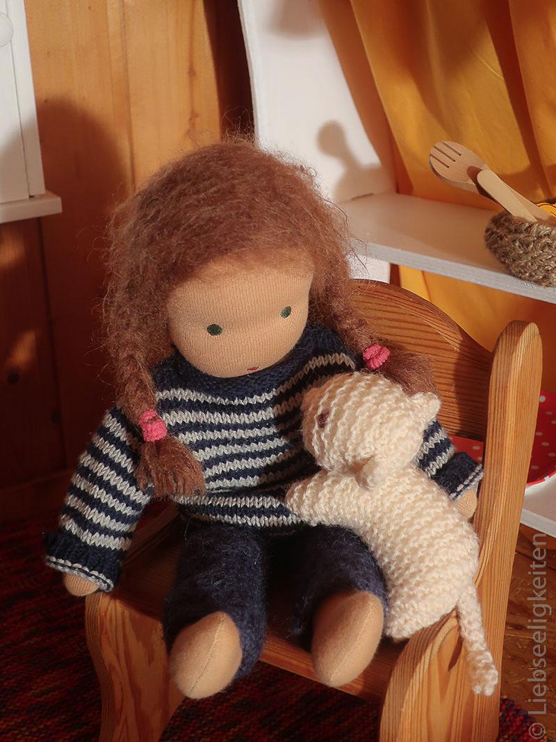 Waldorf - Stoffpuppe - Puppe nach Waldorfart - Liebseeligkeiten - Puppe