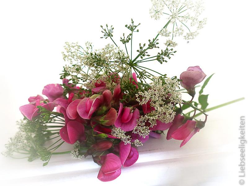Wicken und Girschblüten