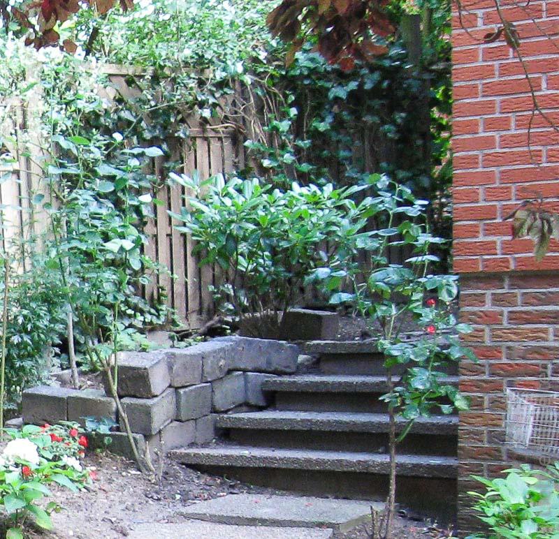 Alte Steintreppe im Garten