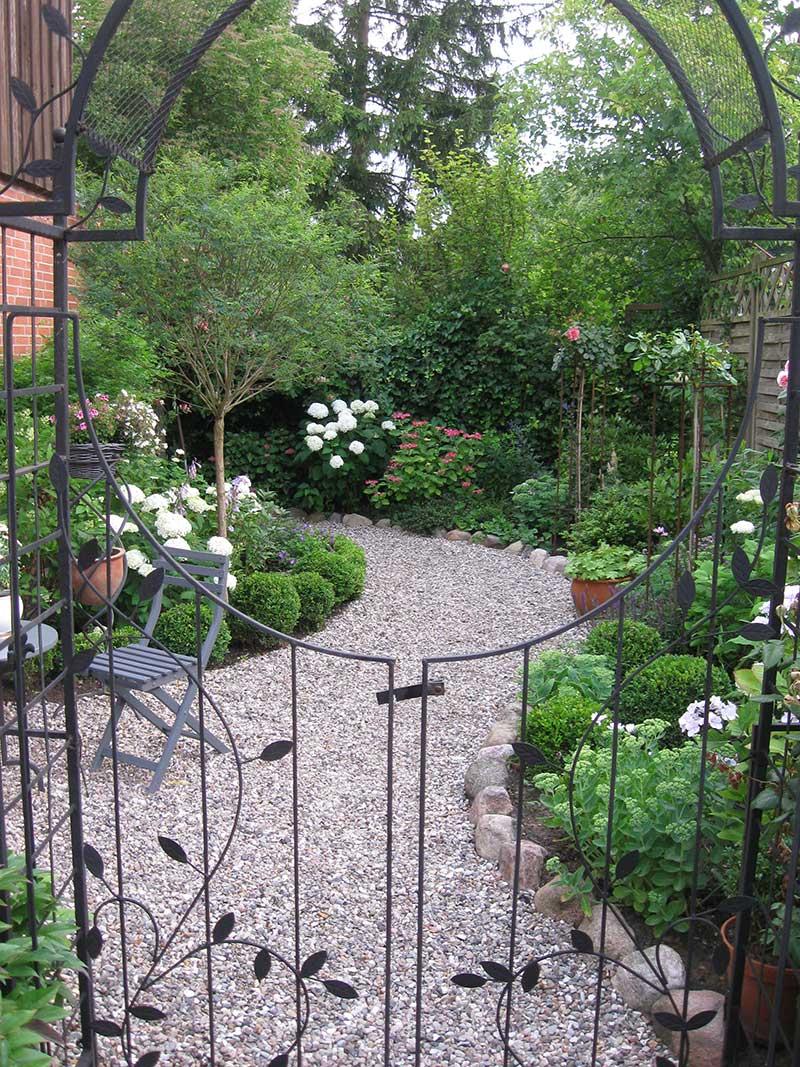 Gartenfläche nach der Umgestaltung
