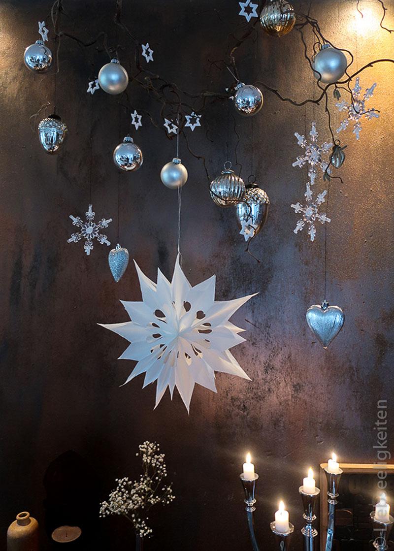 Weihnachtsdeko - großer Stern aus Butterbrottüten