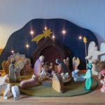 Weihnachtskrippe für die Krippenfiguren von Ostheimer