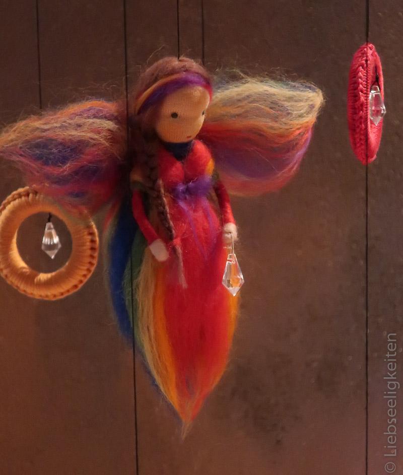 Regenbogen - Elfe - Elfe aus Märchenwolle - Regenbogenfee