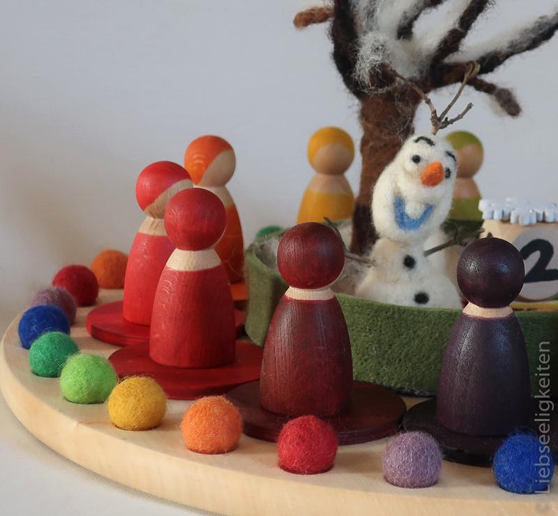 Jahreskreis - Figurenkegel - Filzkuglen