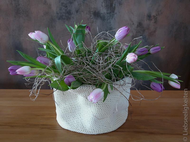 Tulpen - Frühlingsstrauß - Tulpen in der Vase - fliederfarbene Tulpen