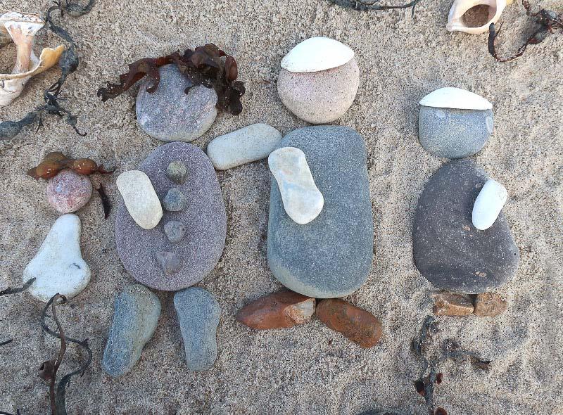 Familie Steinfiguren