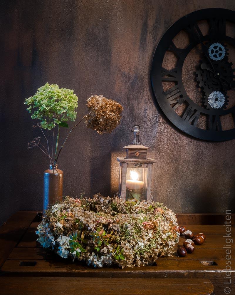 Herbst - Kranz aus verwelkten Blüten - Herbstkranz