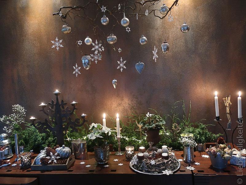 Weihnachtsdeko In Silber Und Weiß.Weihnachtsdeko Wie Auf Dem Weihnachtsmarkt Liebseeligkeiten