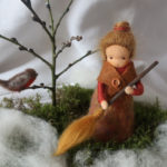 Jahreszeitentisch - Mütterchen Tau - filzen - Märchenwolle - Waldorf