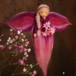 Märchenwollefee - Fee aus Märchenwolle - Hyazinthenfee