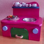Puppenküche in Pink - Kinderküche aus Sperrholz