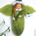 Schneeglöckchen - Fee aus Märchenwolle - jahreszeitentisch